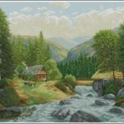 Megat Cross Stitch 738 Mountain stream